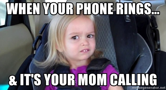 little blonde girl teeth - When your phone rings... & It's your mom calling
