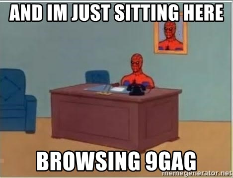 Spiderman Desk - and im just sitting here browsing 9GAG
