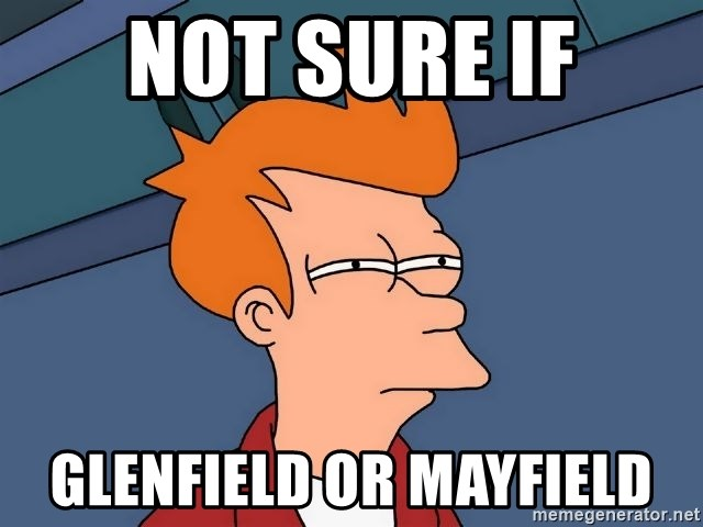 Futurama Fry - not sure if glenfield or mayfield