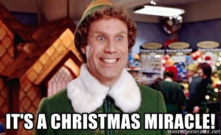 Its A Christmas Miracle.It S A Christmas Miracle Buddy The Elf Kryptik Meme
