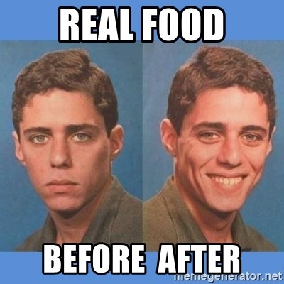Chico Xavequeiro - REAL FOOD before  after