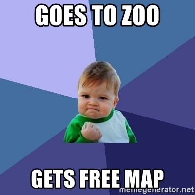 Success Kid - Goes to zoo Gets free map