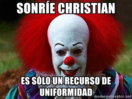 Pennywise the Clown - Sonríe Christian Es sólo un recurso de uniformidad
