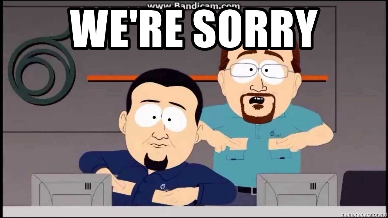 Image result for south park were sorry