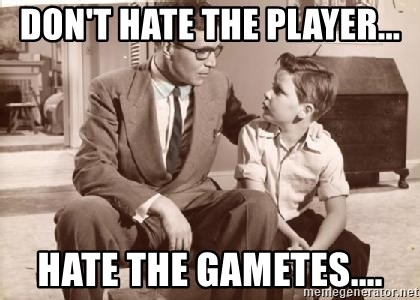 Racist Father - Don't hate the player... hate the gametes....