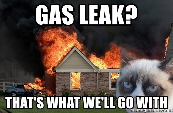 grumpy cat 8 - Gas Leak? That's what we'll go with