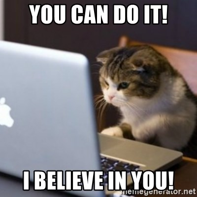cat computer - YOU CAN DO IT! I believe in you!