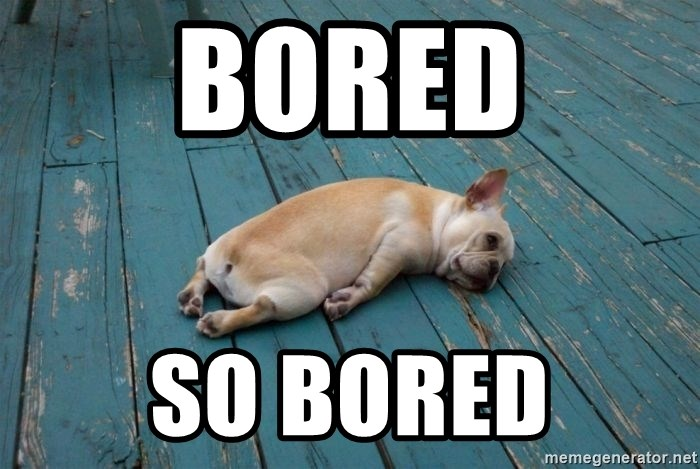 Bored So Bored Tired Dog Meme Generator
