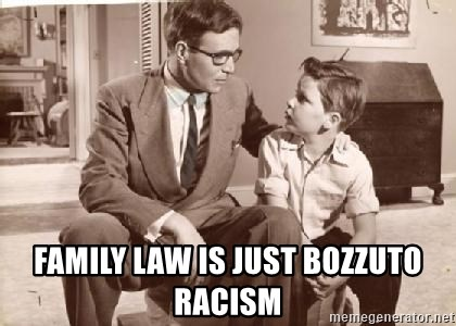 Racist Father -  Family law is just Bozzuto racism