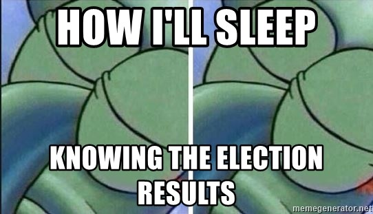 how ill sleep knowing the election results how i'll sleep knowing the election results sleeping squidward