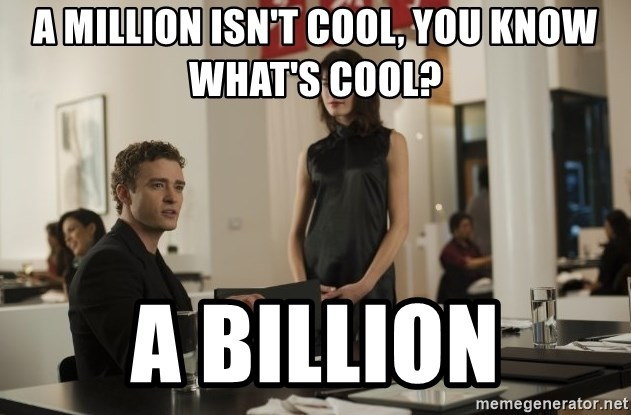 sean parker - a million isn't cool, you know what's cool? a billion