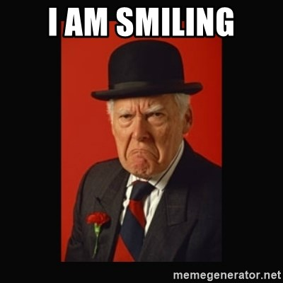 Old man smiling meme generator