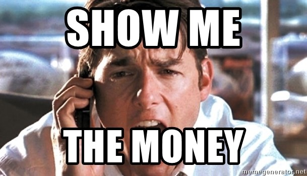 Jerry Maguire Coffee - SHOW ME  THE MONEY