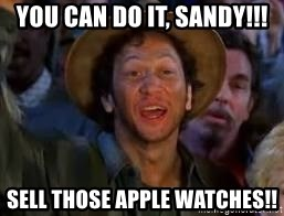 You Can Do It Guy - You can do it, Sandy!!! Sell those apple watches!!