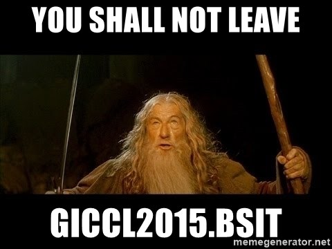 you shall not pass gandalf the gray - You Shall Not Leave giccl2015.bsit