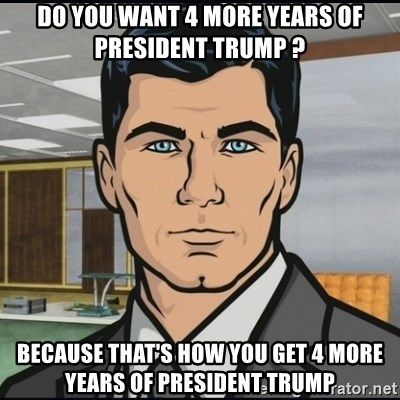 Image result for do you want 4 more years of trump? Because this is how