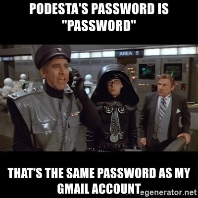 Podesta's password is