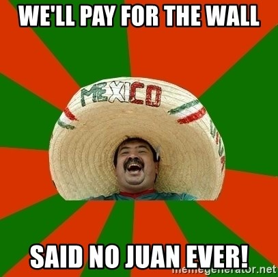 Successful Mexican - We'll pay for the wall Said no Juan ever!