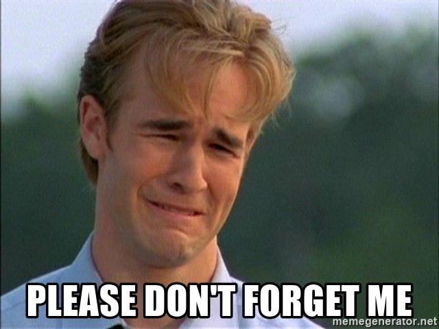 Please Dont Forget Me Dawson Crying Meme Generator