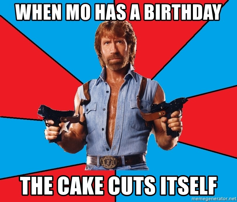 Remarkable When Mo Has A Birthday The Cake Cuts Itself Chuck Norris Meme Personalised Birthday Cards Sponlily Jamesorg