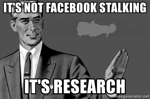 Correction Man  - It's not Facebook stalking It's research