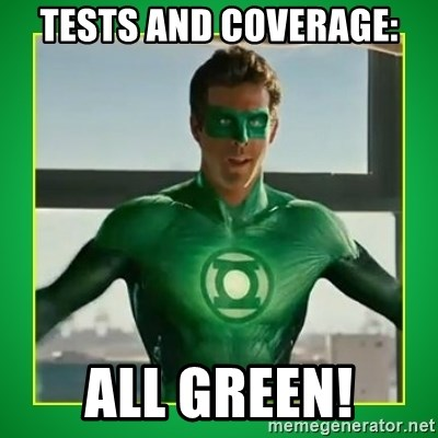 Green Lantern - Tests and coverage: all GREEN!