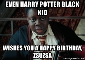 Even Harry Potter Black Kid Wishes You A Happy Birthday Zsuzsa