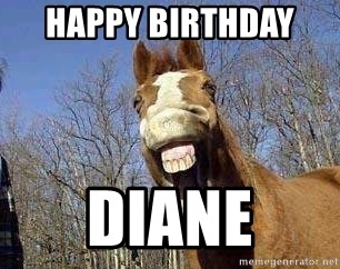 74831813 happy birthday diane horse meme generator