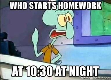 squidward homework 3am