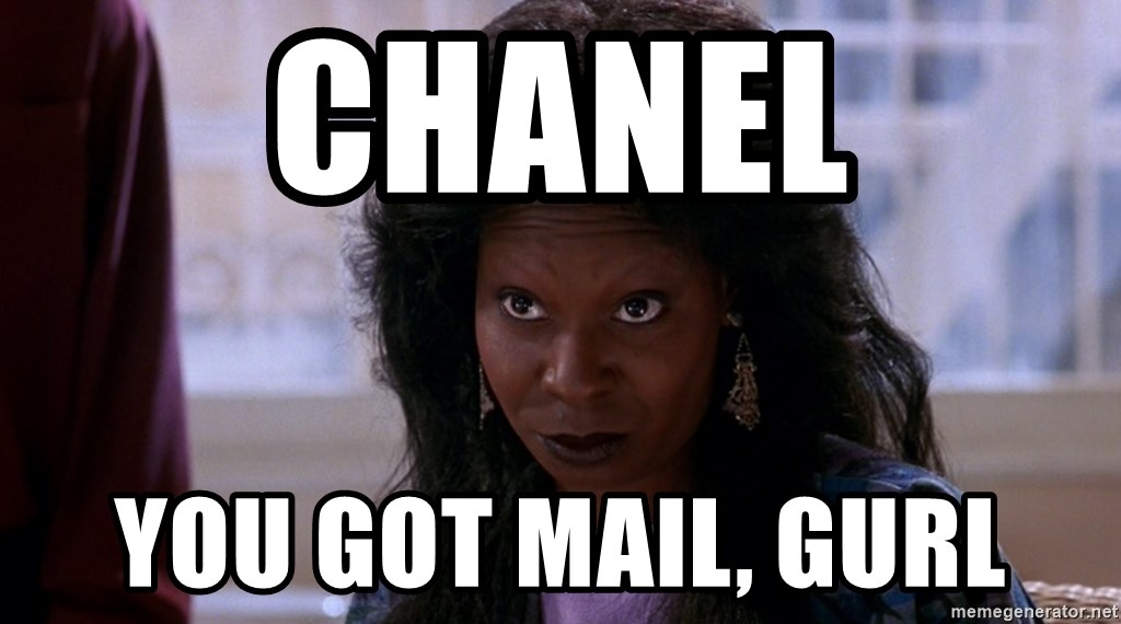 Whoopi Goldberg Ghost 2 - Chanel You got mail, gurl