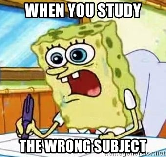 Spongebob What I Learned In Boating School Is - when you study the wrong subject