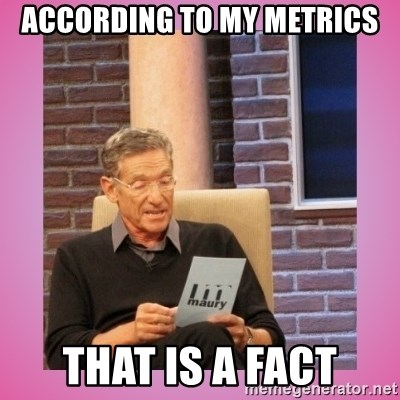 MAURY PV - According to my Metrics That is a fact