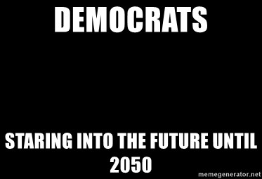 Blank Black - democrats staring into the future until 2050