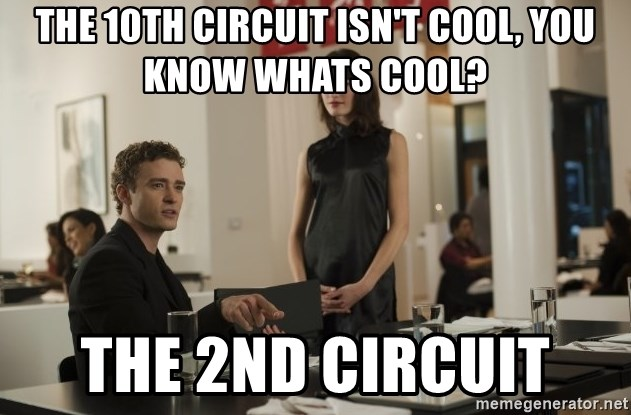 sean parker - The 10th circuit isn't cool, you know whats cool? the 2nd circuit