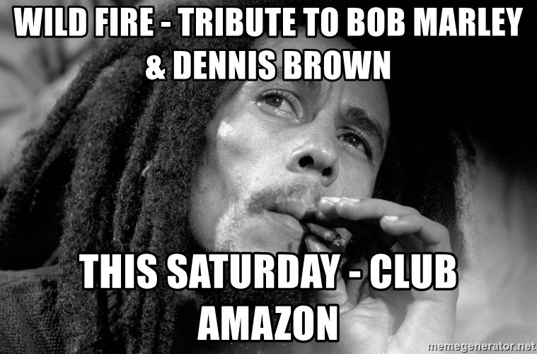 WILD FIRE TRIBUTE TO BOB MARLEY DENNIS BROWN THIS SATURDAY Gorgeous Bob Marley Smoking Wild