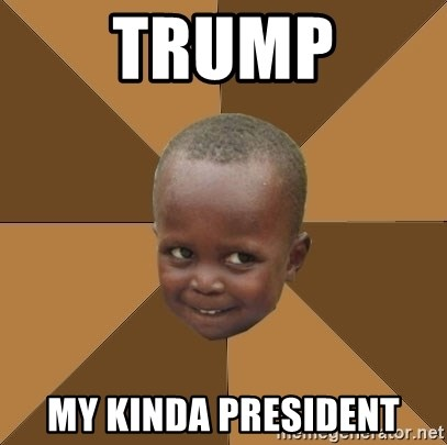 Homeless Haitian Child - trump my kinda president