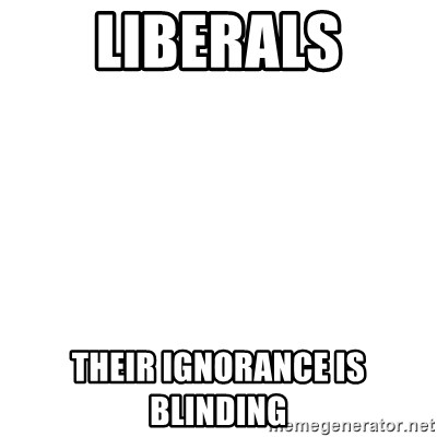 Blank Template - liberals their ignorance is blinding