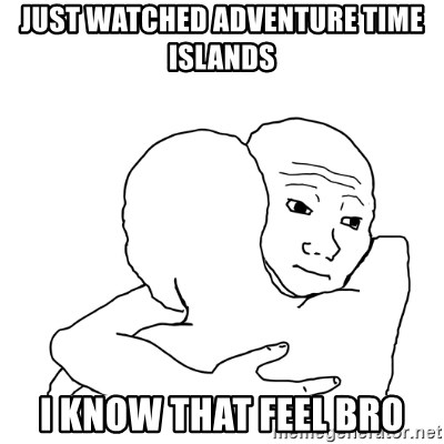 I know that feel bro blank - JUST Watched adventure time islands I know that feel bro