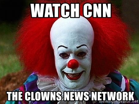 Pennywise the Clown -  Watch CNN  the clowns news network