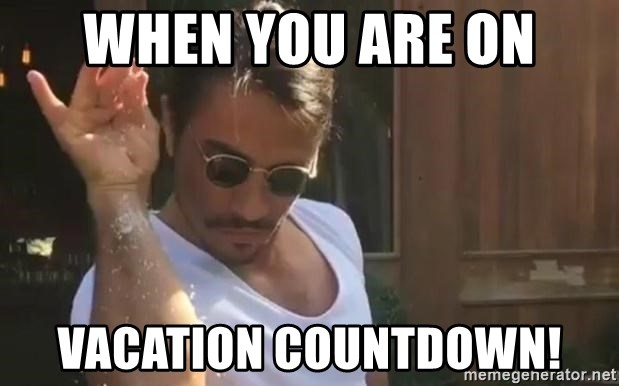 when you are on vacation countdown when you are on vacation countdown! salt bae meme generator