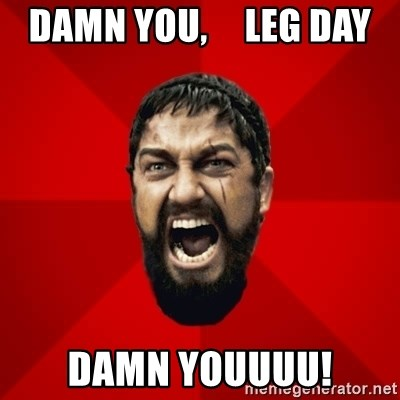 THIS IS SPARTAAA!!11!1 - damn you,     leg day damn youuuu!