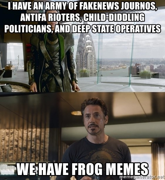 75747757 i have an army of fakenews journos, antifa rioters, child diddling