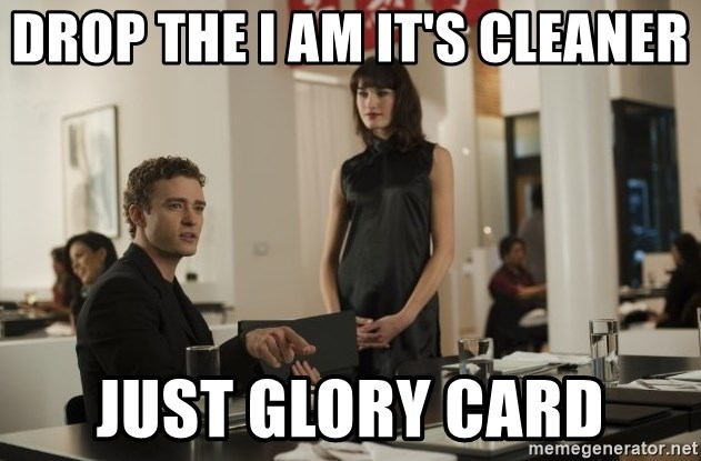 sean parker - Drop the I AM it's cleaner just Glory card