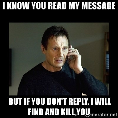 did you read my message