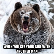 Cocaine Bear - when you see your GIRL with another man