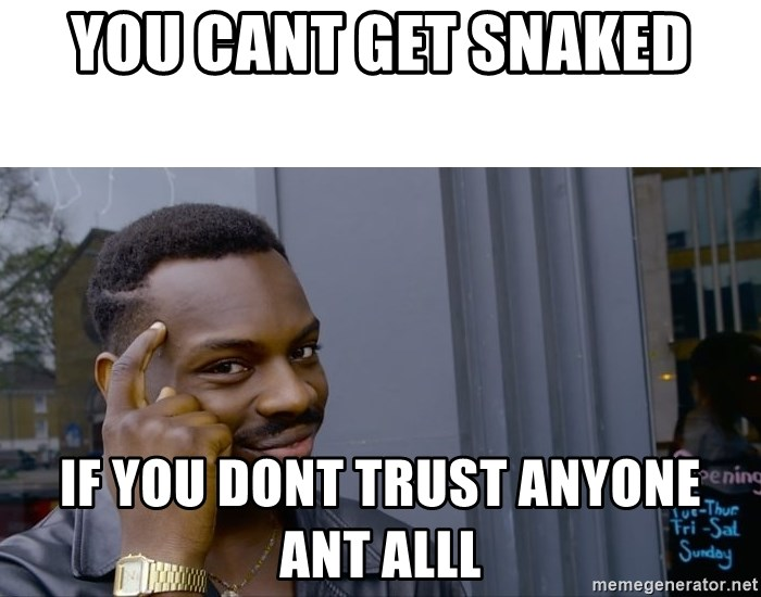 Roll Safe Hungover - You cant get snaked If you dont trust anyone ant alll