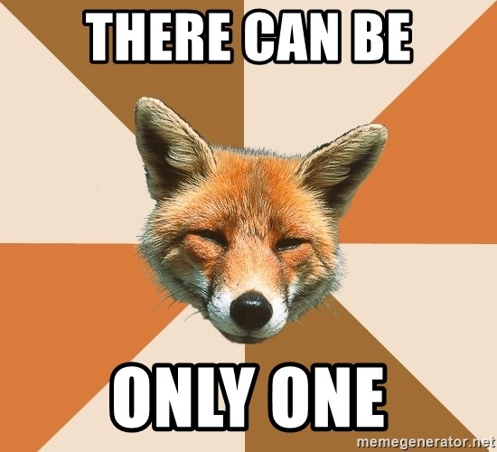Condescending Fox - there can be only one