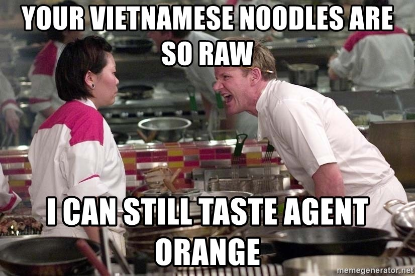 Your Vietnamese noodles are so raw I can still taste Agent