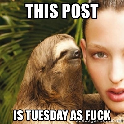 sexy sloth - This post Is tuesday as Fuck