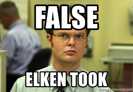 Dwight Schrute - false elken took